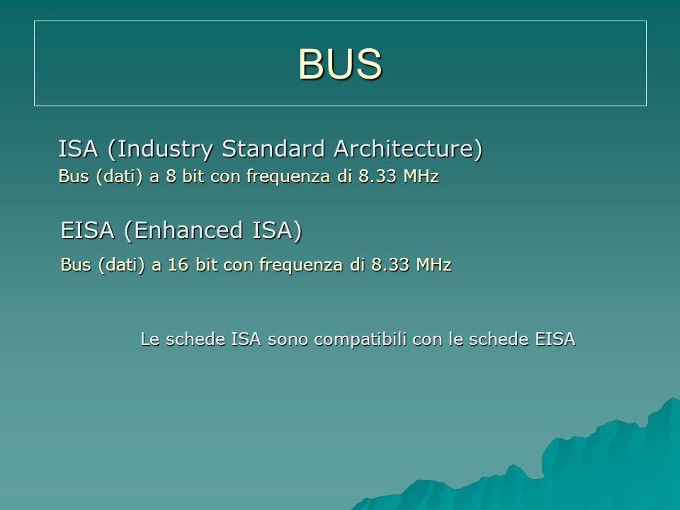 Le schede ISA sono compatibili con le schede EISA