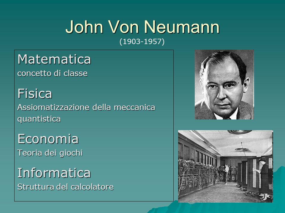 John Von Neumann Matematica Fisica Economia Informatica