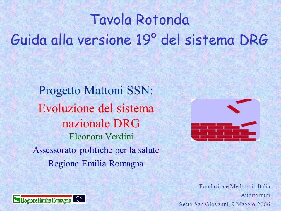 Guida alla versione 19° del sistema DRG