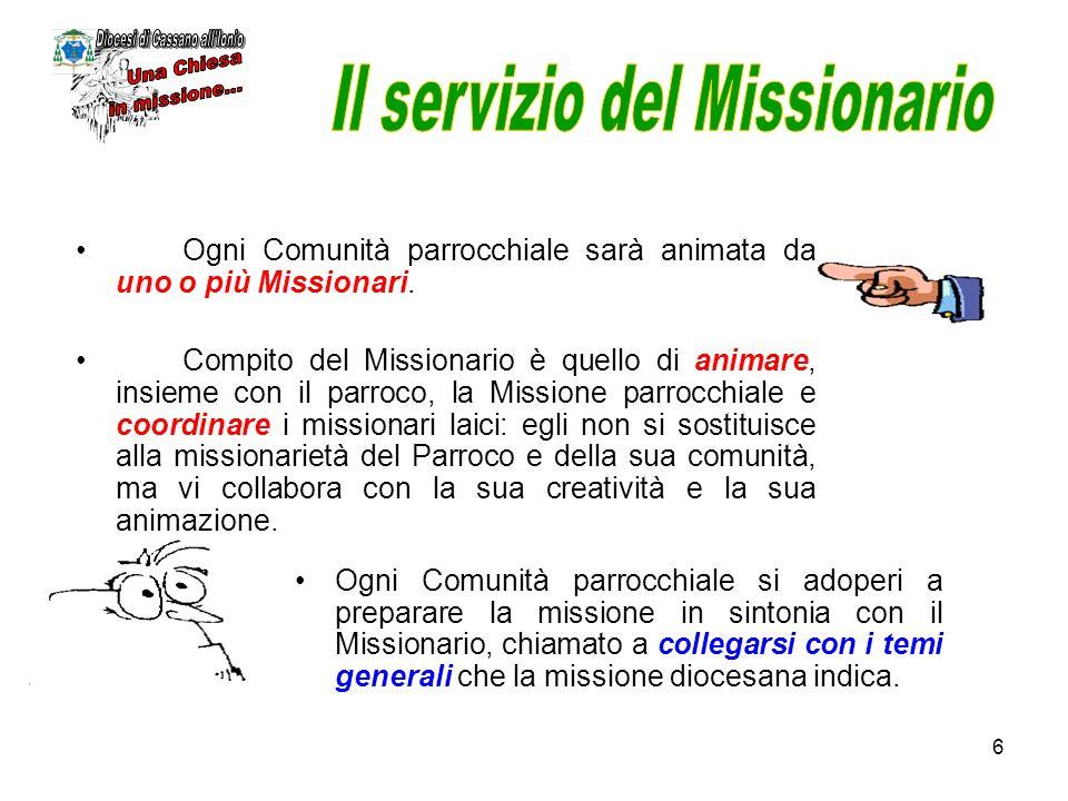 Il servizio del Missionario