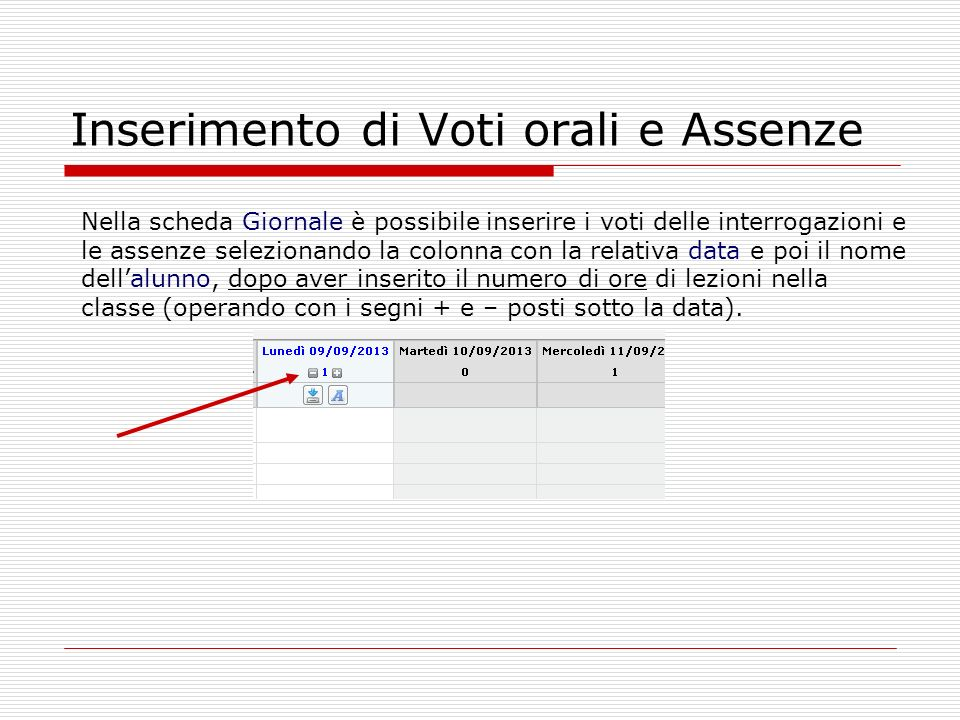 Inserimento di Voti orali e Assenze