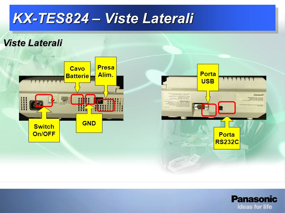 KX-TES824 – Viste Laterali
