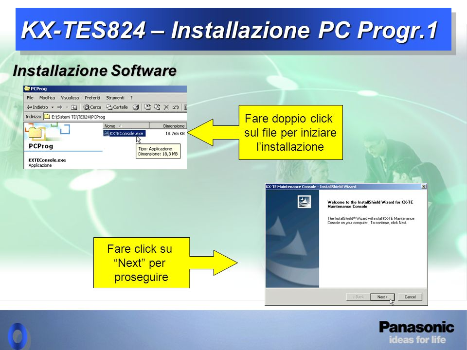 KX-TES824 – Installazione PC Progr.1