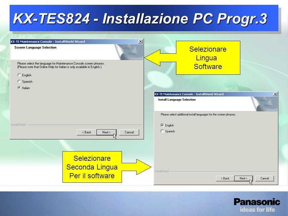 KX-TES824 - Installazione PC Progr.3