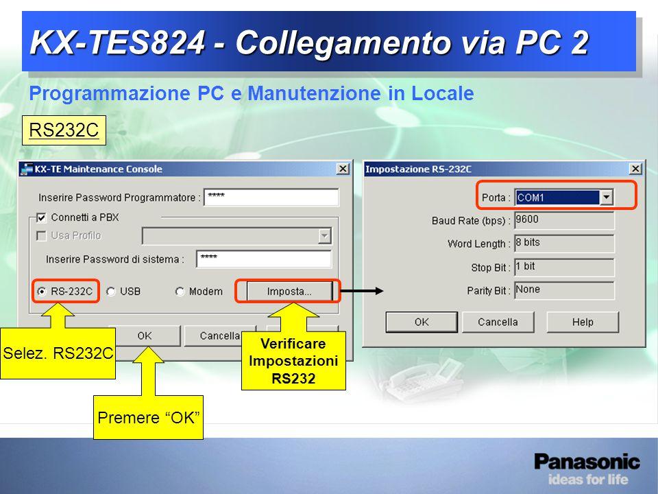 KX-TES824 - Collegamento via PC 2