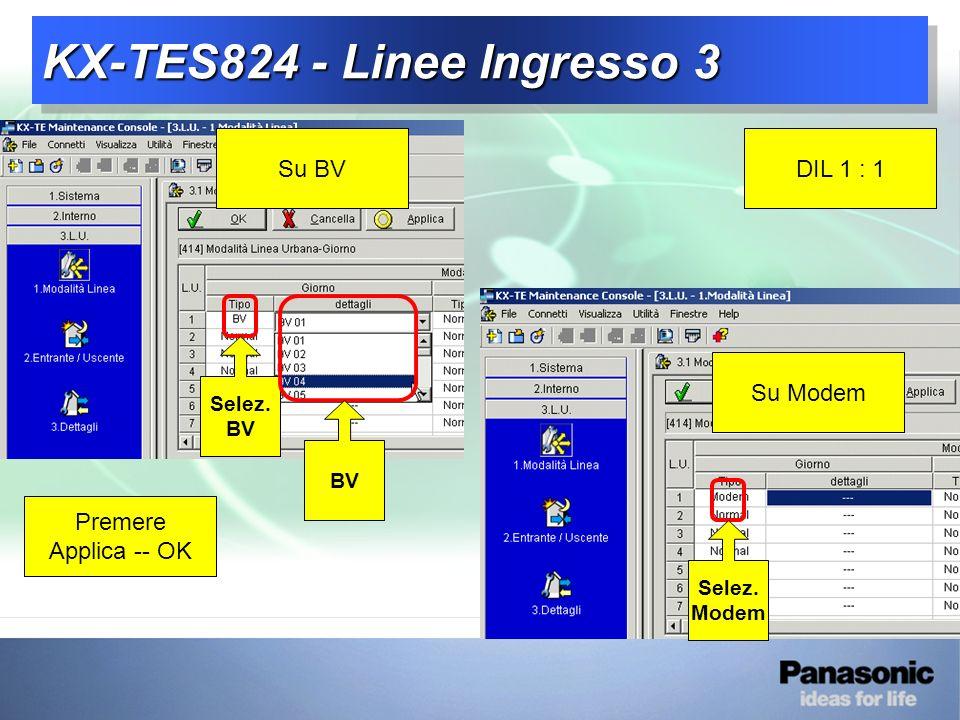 KX-TES824 - Linee Ingresso 3