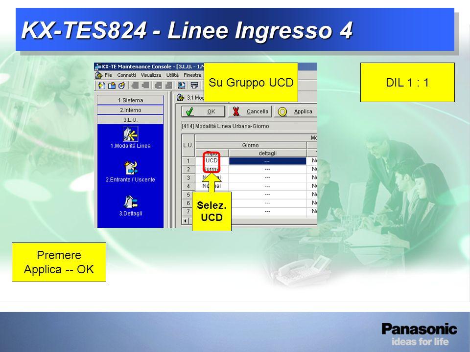 KX-TES824 - Linee Ingresso 4