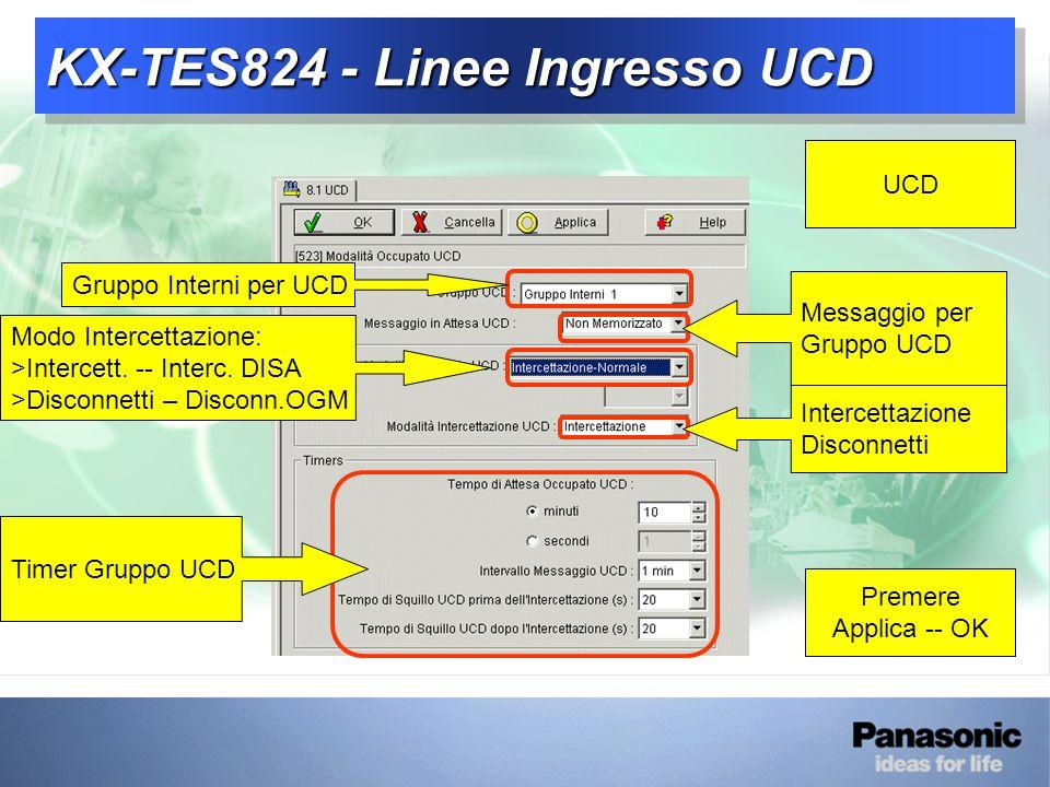 KX-TES824 - Linee Ingresso UCD