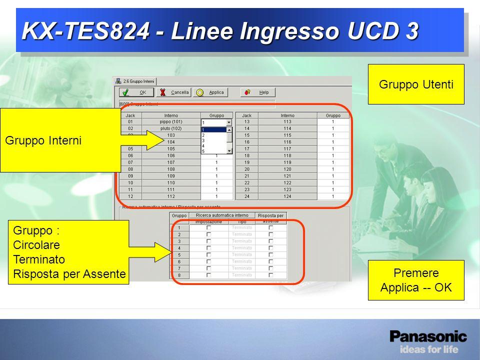 KX-TES824 - Linee Ingresso UCD 3