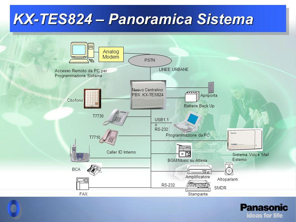 KX-TES824 - Panoramica Sistema 1-1