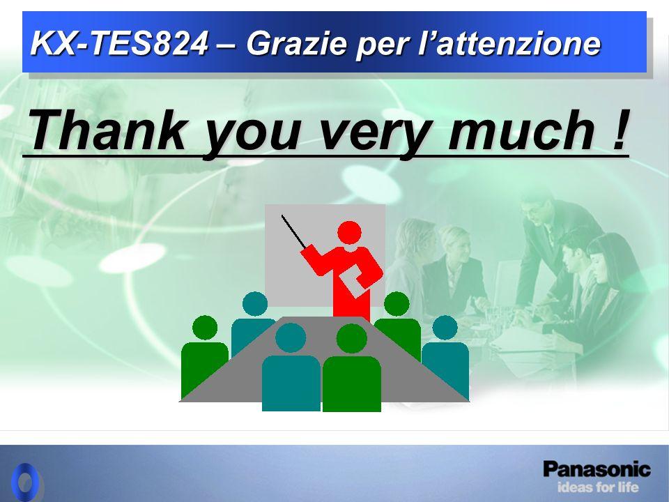 KX-TES824 – Grazie per l'attenzione