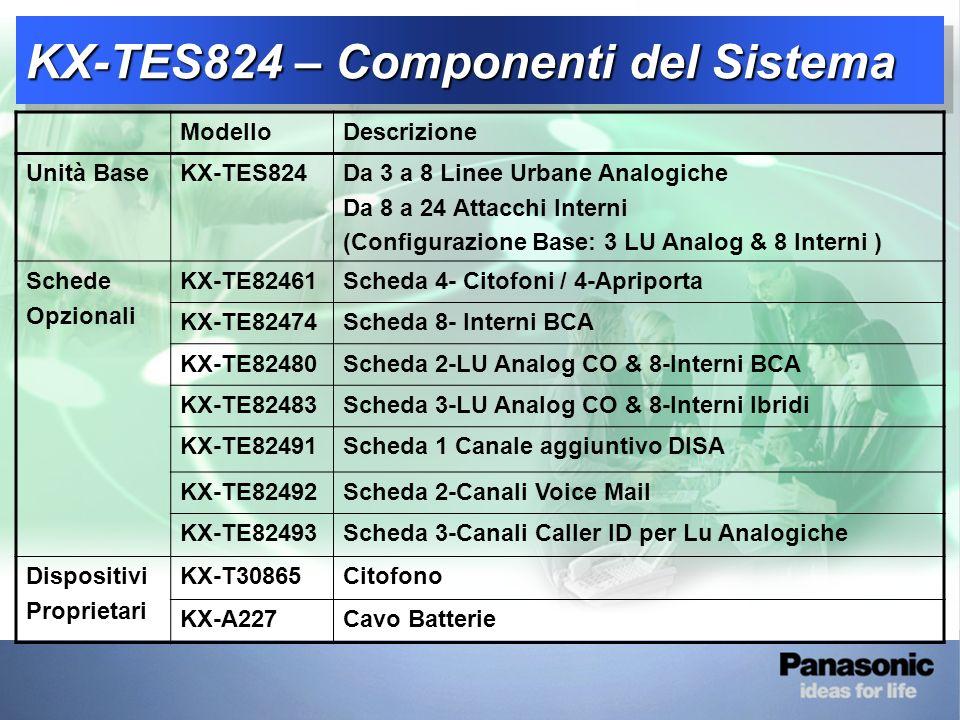 KX-TES824 - Panoramica Sistema 1-2