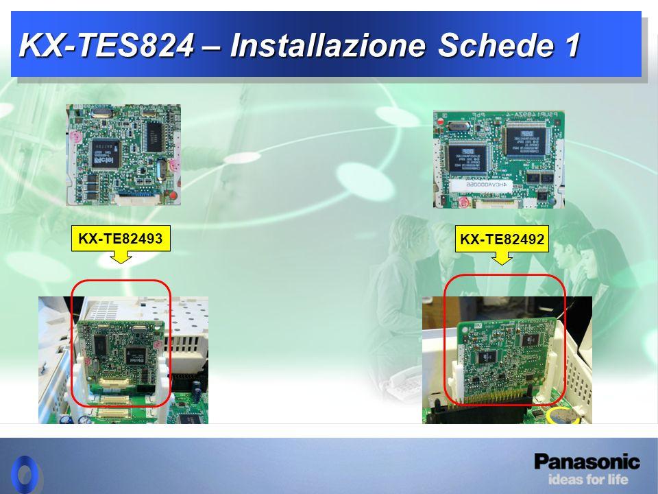 KX-TES824 – Installazione Schede 1