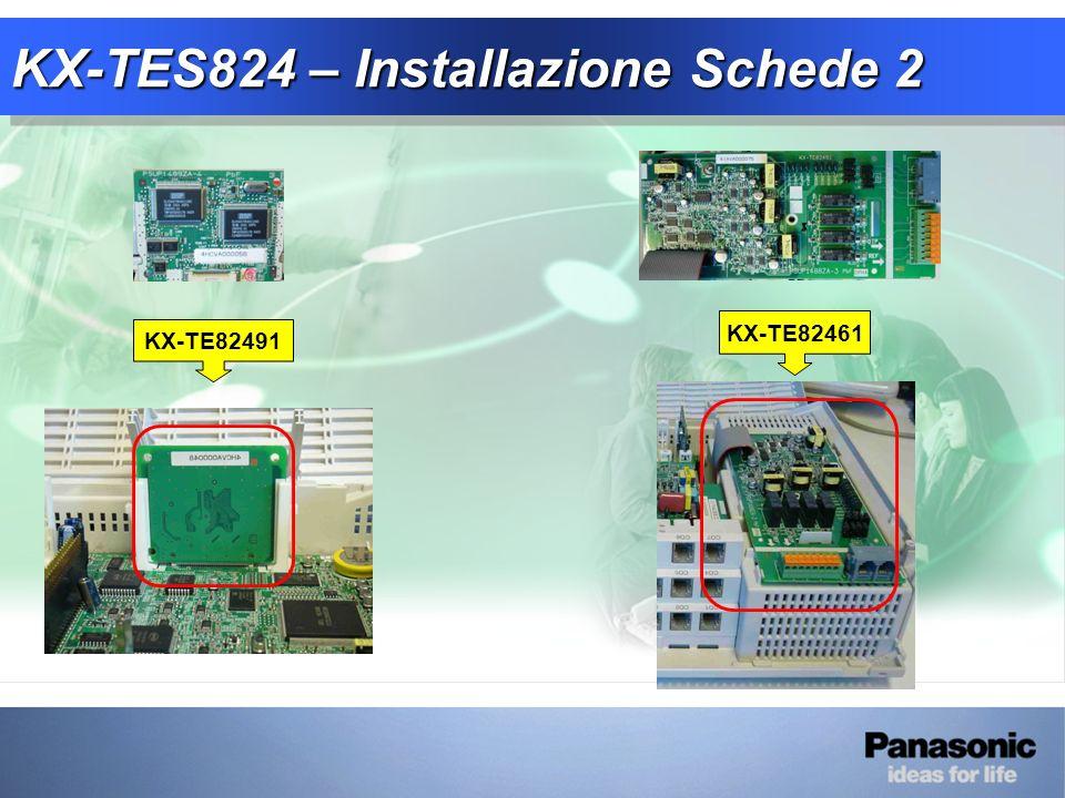 KX-TES824 – Installazione Schede 2