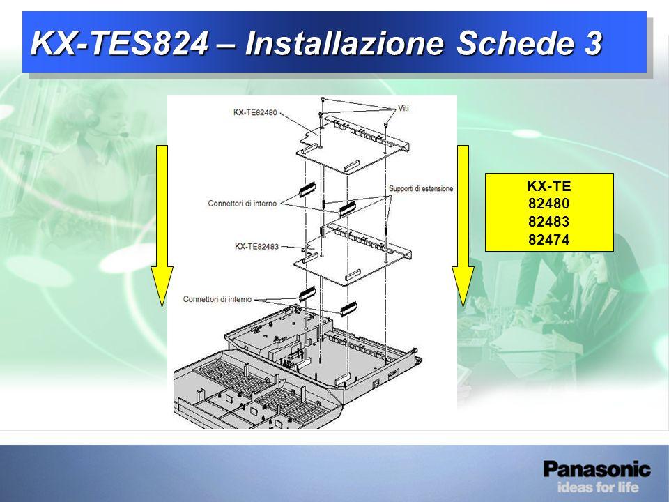 KX-TES824 – Installazione Schede 3