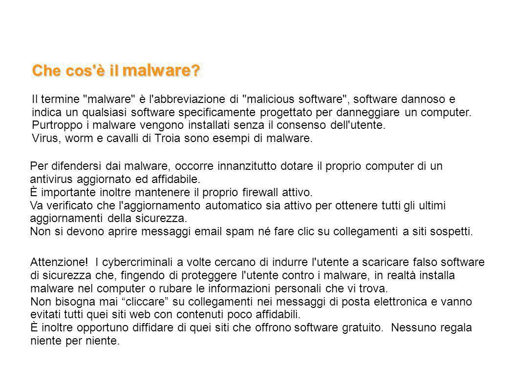 Che cos è il malware