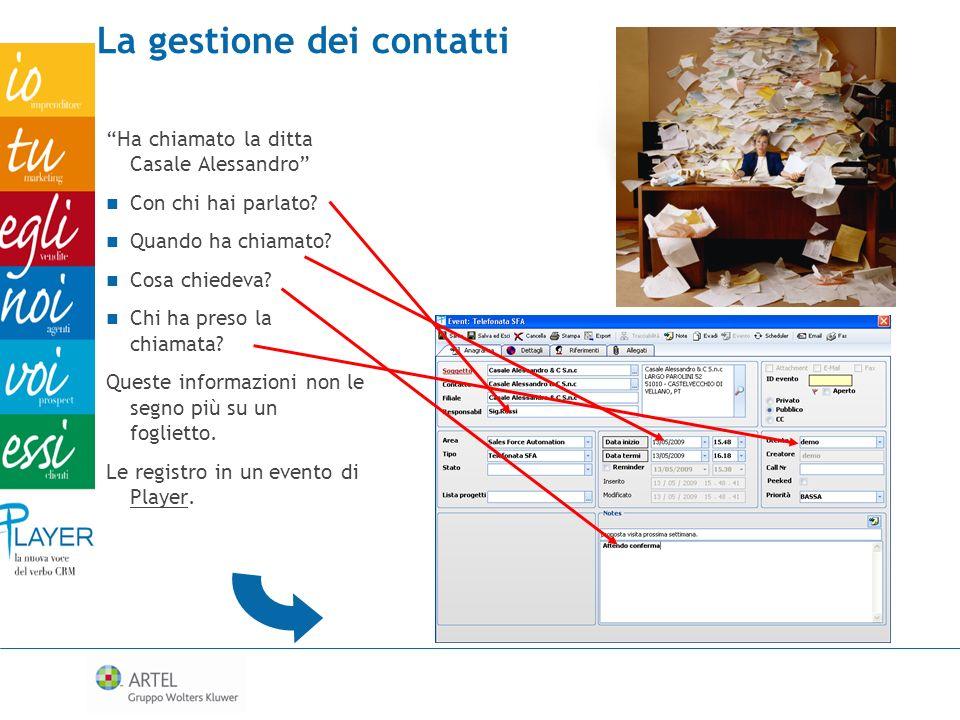 La gestione dei contatti