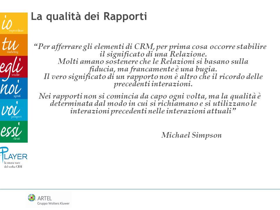 La qualità dei Rapporti