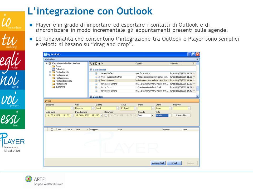L'integrazione con Outlook