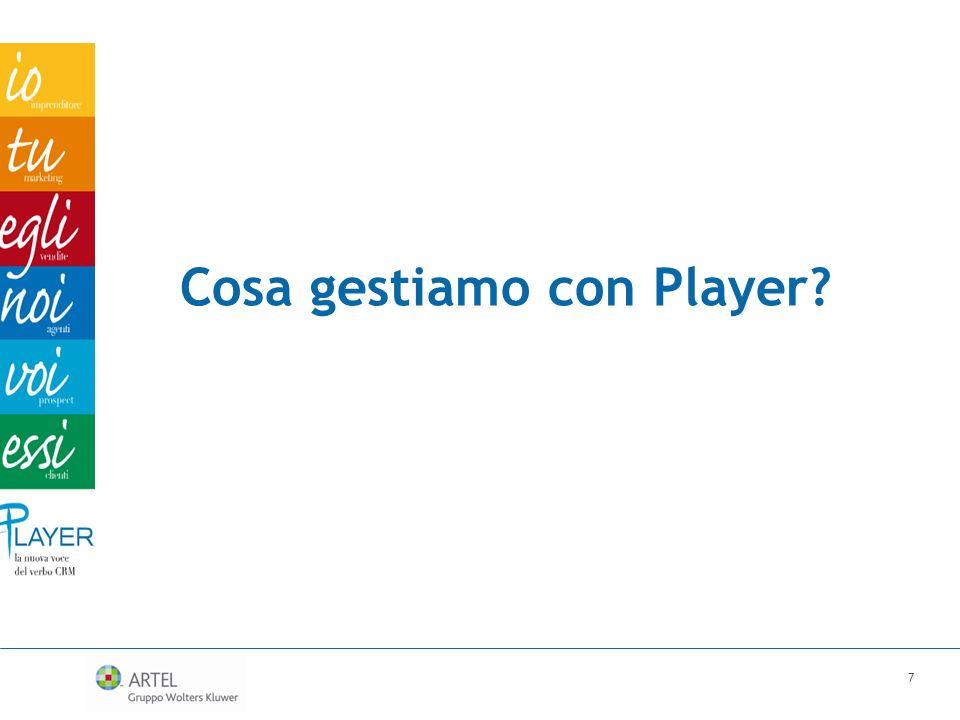 Cosa gestiamo con Player