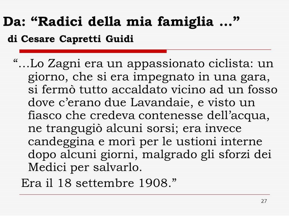Da: Radici della mia famiglia … di Cesare Capretti Guidi