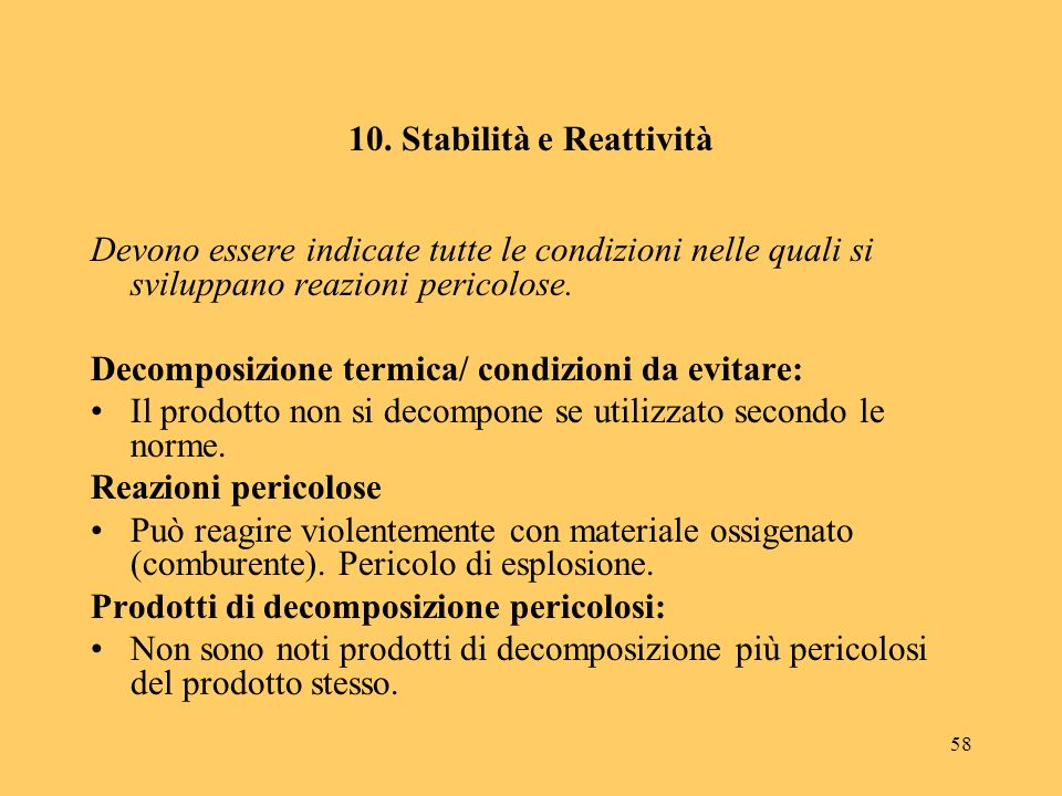 10. Stabilità e Reattività