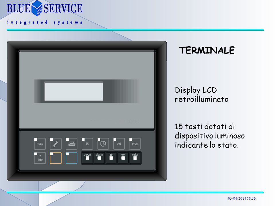 TERMINALE Display LCD retroilluminato
