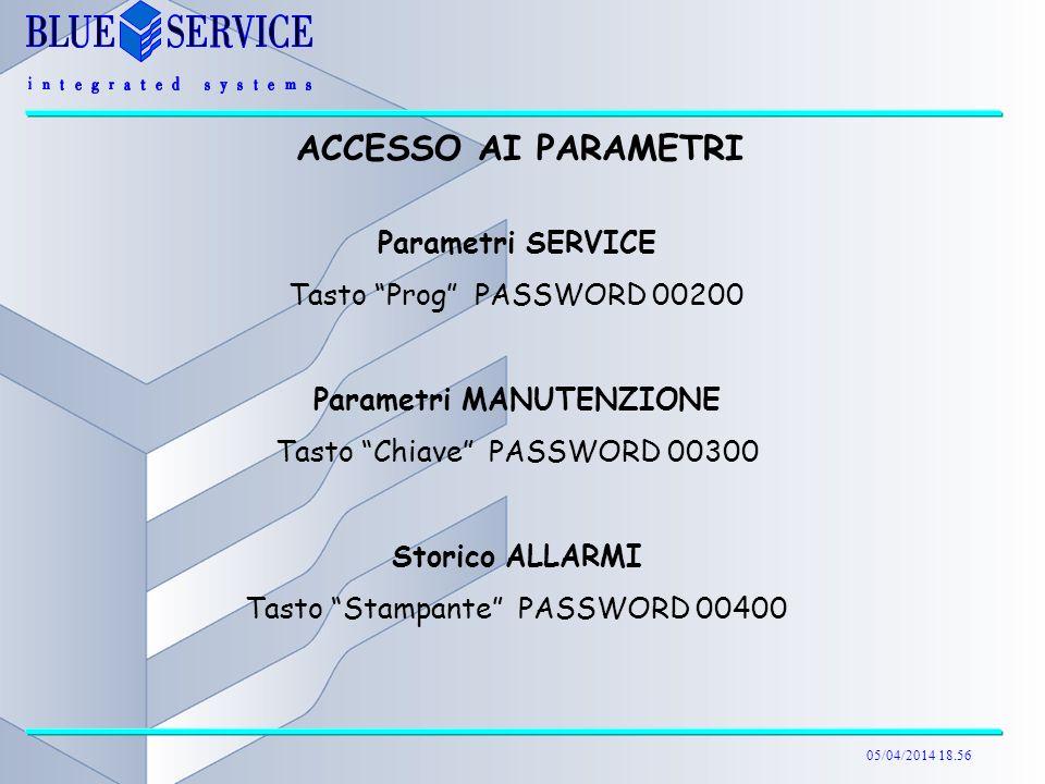 Parametri MANUTENZIONE