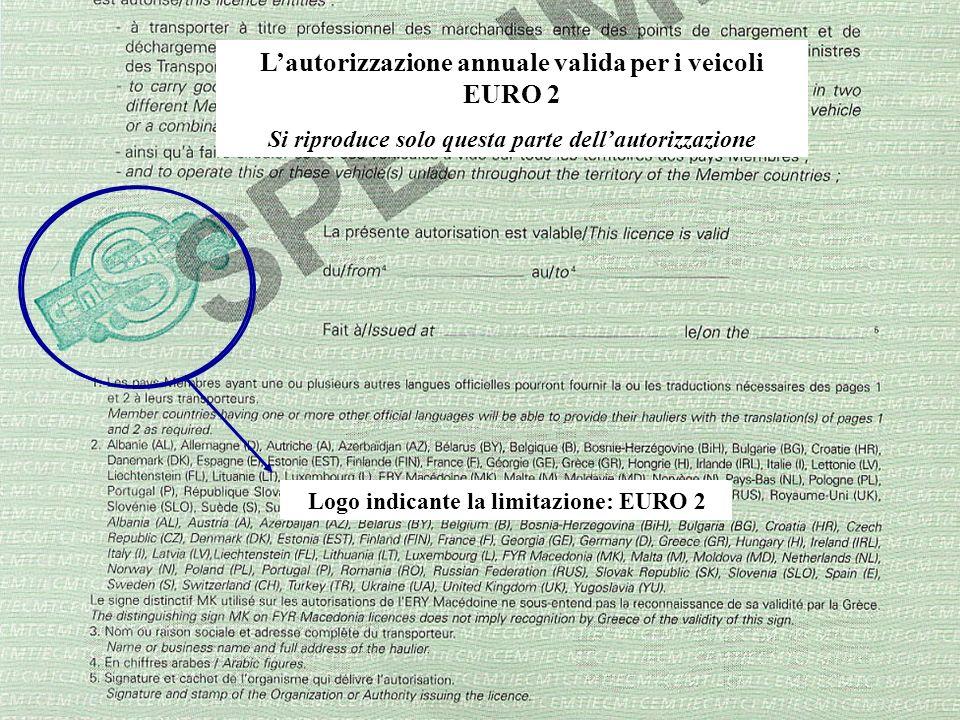 L'autorizzazione annuale valida per i veicoli EURO 2