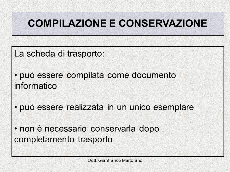 COMPILAZIONE E CONSERVAZIONE