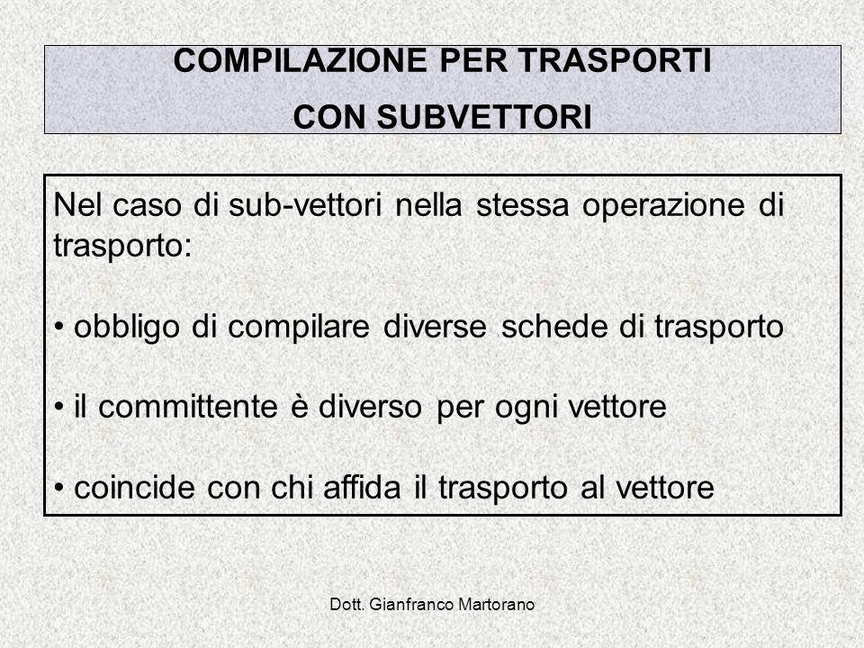 COMPILAZIONE PER TRASPORTI
