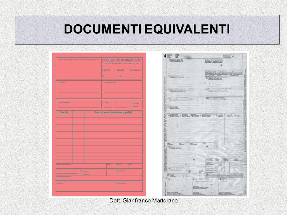 DOCUMENTI EQUIVALENTI