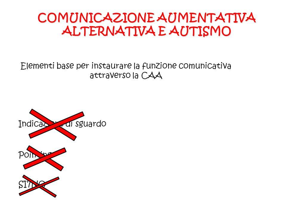 COMUNICAZIONE AUMENTATIVA ALTERNATIVA E AUTISMO