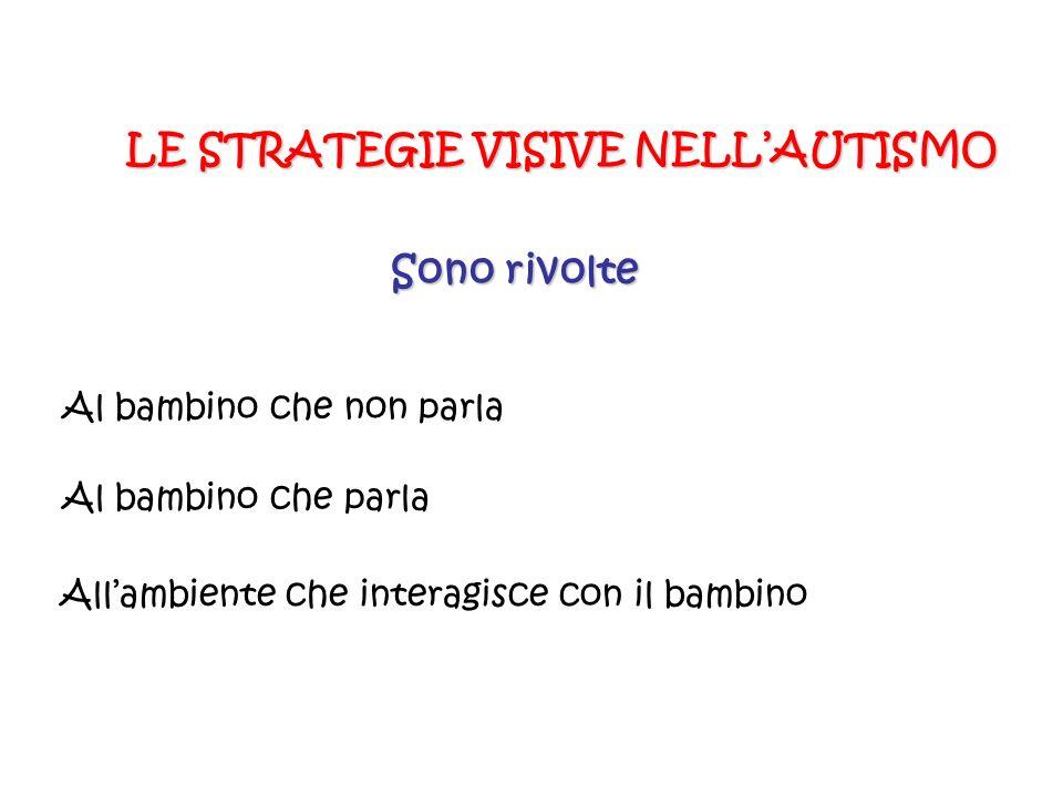 LE STRATEGIE VISIVE NELL'AUTISMO