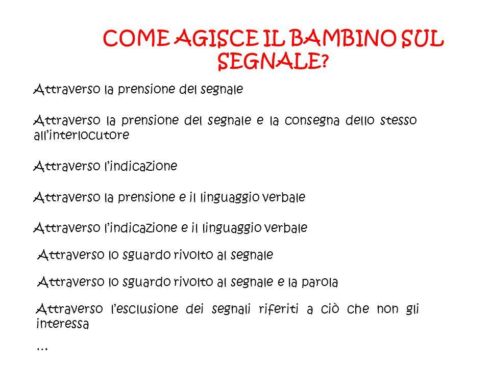 COME AGISCE IL BAMBINO SUL SEGNALE