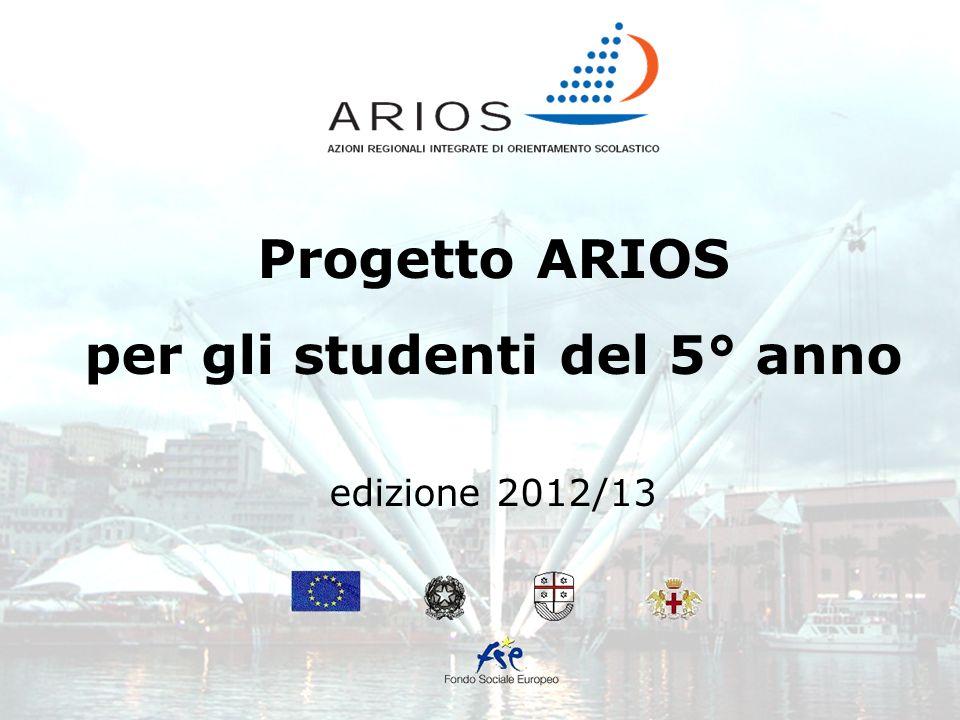 Progetto ARIOS per gli studenti del 5° anno edizione 2012/13