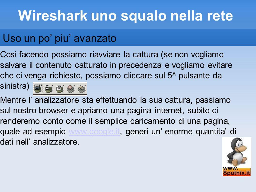 Wireshark uno squalo nella rete