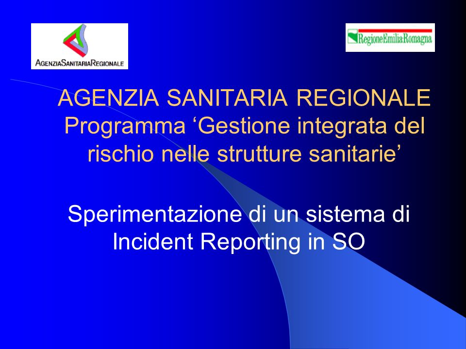 Sperimentazione di un sistema di Incident Reporting in SO