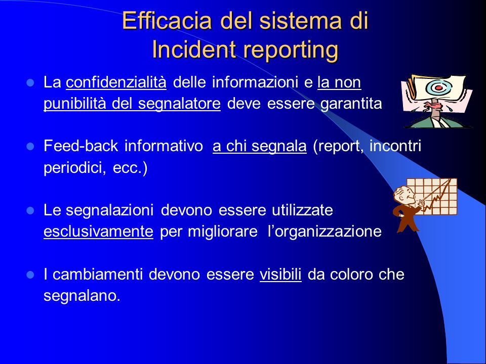Efficacia del sistema di Incident reporting