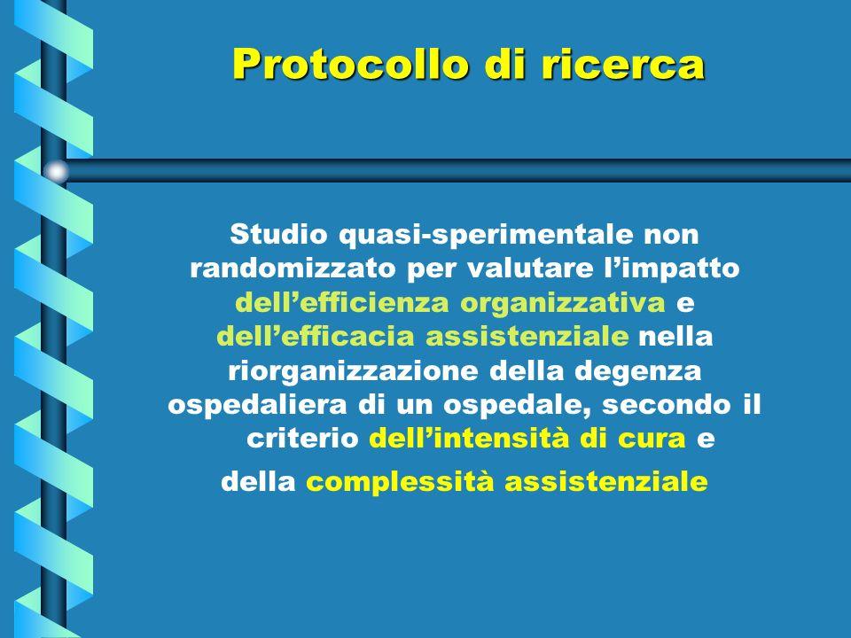 Protocollo di ricerca Studio quasi-sperimentale non