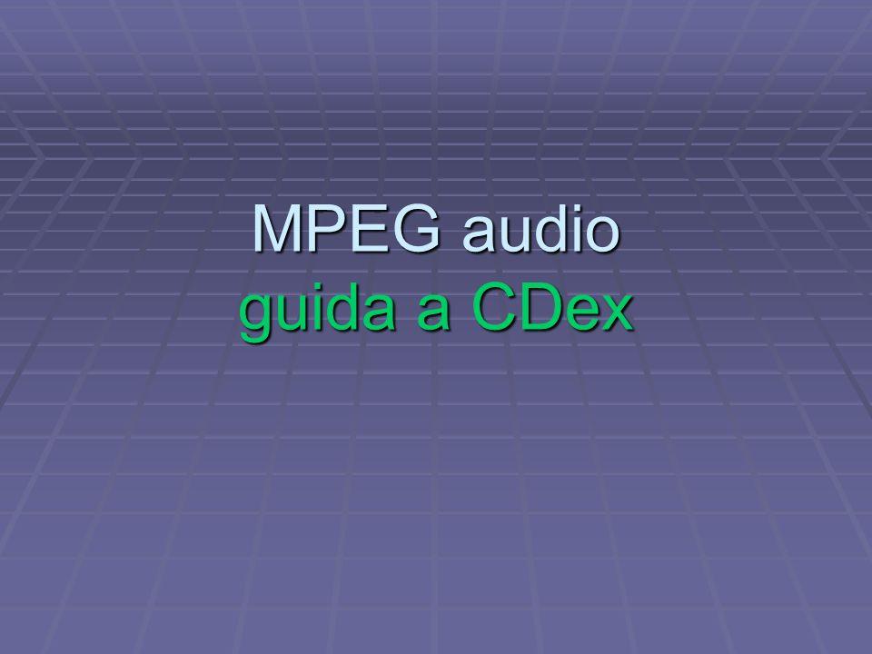 MPEG audio guida a CDex