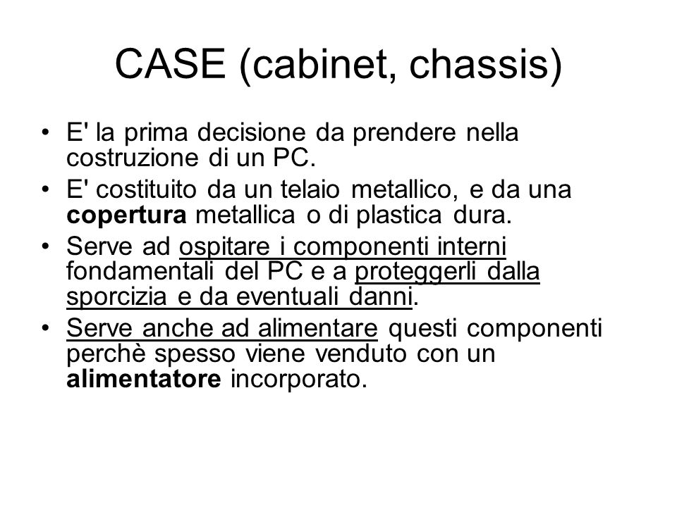 CASE (cabinet, chassis)