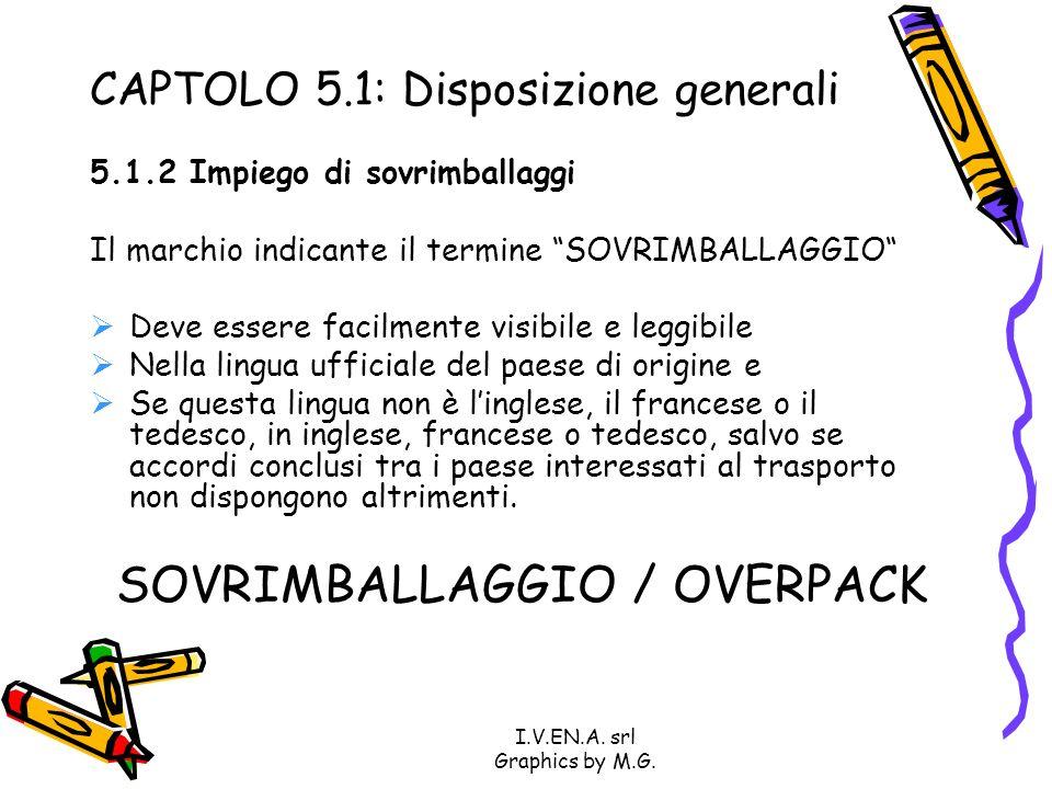 CAPTOLO 5.1: Disposizione generali