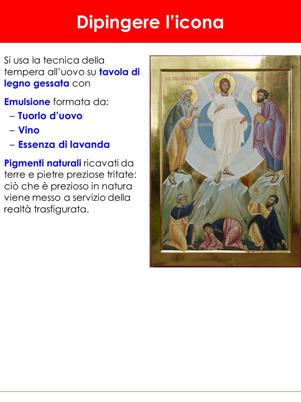Dipingere l'icona Tuorlo d'uovo Vino Essenza di lavanda