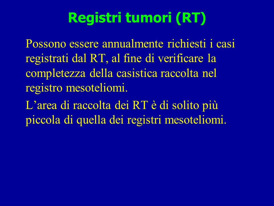 Registri tumori (RT)