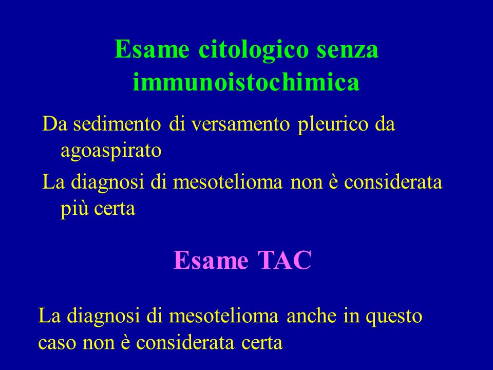 Esame citologico senza immunoistochimica