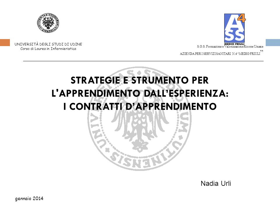 STRATEGIE E STRUMENTO PER L APPRENDIMENTO DALL'ESPERIENZA: