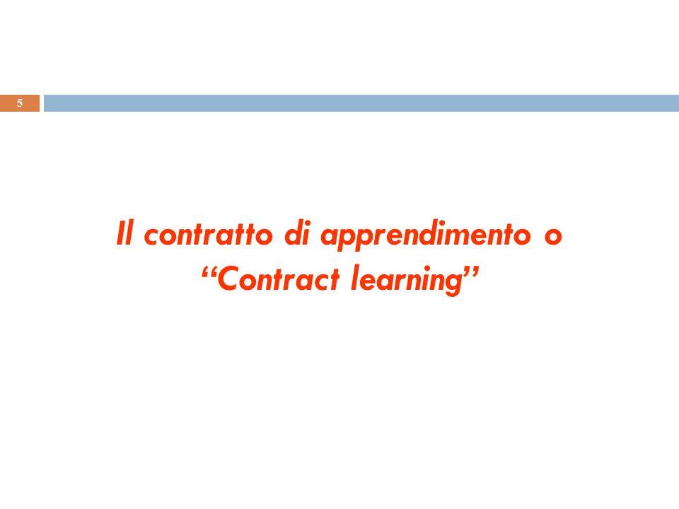 Il contratto di apprendimento o Contract learning