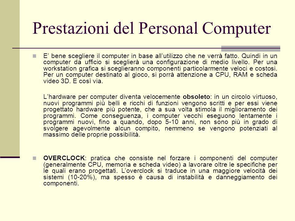 Prestazioni del Personal Computer