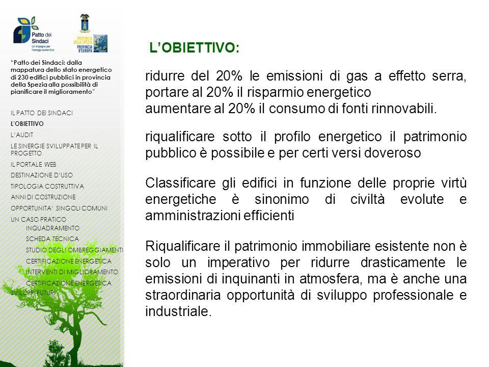 aumentare al 20% il consumo di fonti rinnovabili.